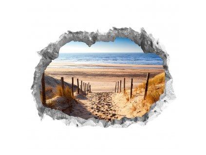 Wandtattoo Fototapeta 3D kámen Pláž lepící |Nálepka na zeď|