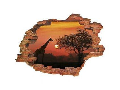 Wandtattoo Fototapeta 3D Savana lepící |Nálepka na zeď|