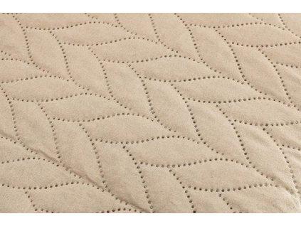 AYDIN Bedding - Přehoz přes postel 160x245 cm bavlna/ béžová