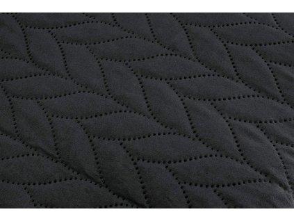 AYDIN Bedding - Přehoz přes postel 160x245 cm bavlna/ černá