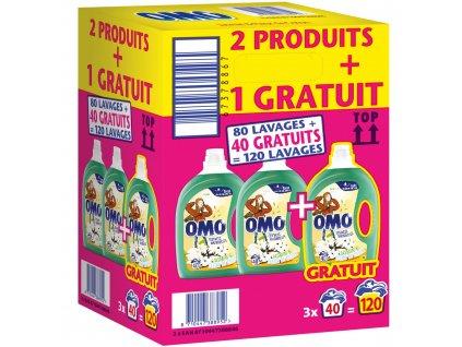 OMO Prací gel - jasmín a květ bavlny 3v1 / 2 l / 3x40 dávek / AKCE 2+1 ZDARMA