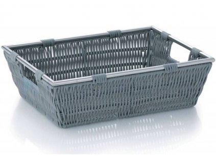 Kela koš NOBLESSE 33 x 25 x 10 cm / šedý košík