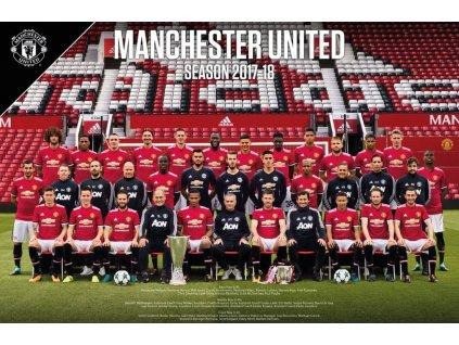 Plakát Manchester United FC Squad 52 (2017-2018)