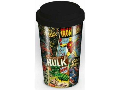 Marvel Retro keramický hrnek 340 ml černý