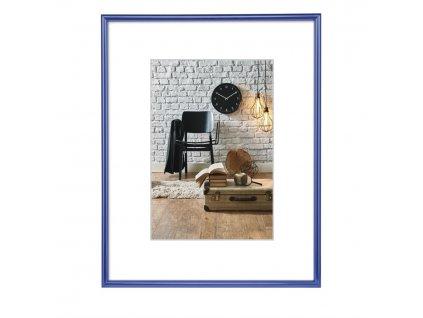 Hama rámeček plastový SEVILLA, modrá, 21x29,7 cm / průhledný plast