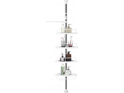 Nastavitelný rohový regál do koupelny 90 x 27.4 x 7.4 cm / bílá