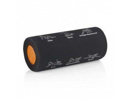 VITALmaxx - Masážní válec s cvičebními cviky černý/oranžový