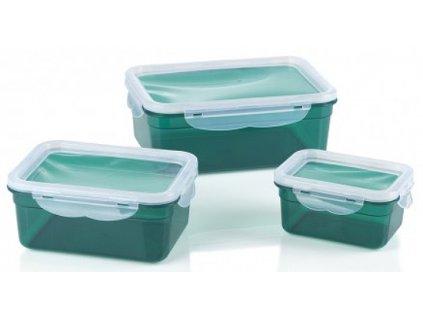 GOURMETmaxx nádoby na skladování potravin Klick-it / 6 ks / zelená