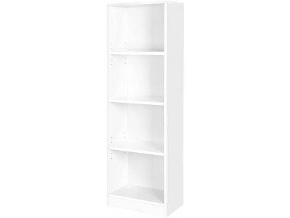 Knihovna s nastavitelnými policemi 121,5 x 40 x 24 cm / bílá