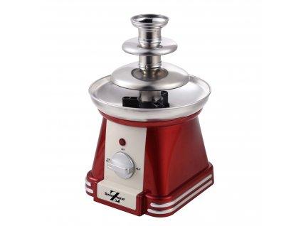 Čokoládová fontána Swiss home 350 ml / 32 W / červená