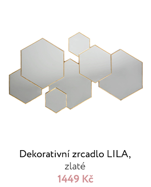 Dekorativní zrcadlo LILA, zlaté