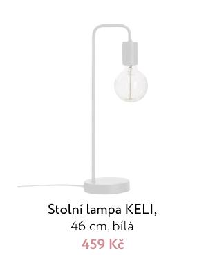 Stolní lampa KELI, 46 cm, bílá