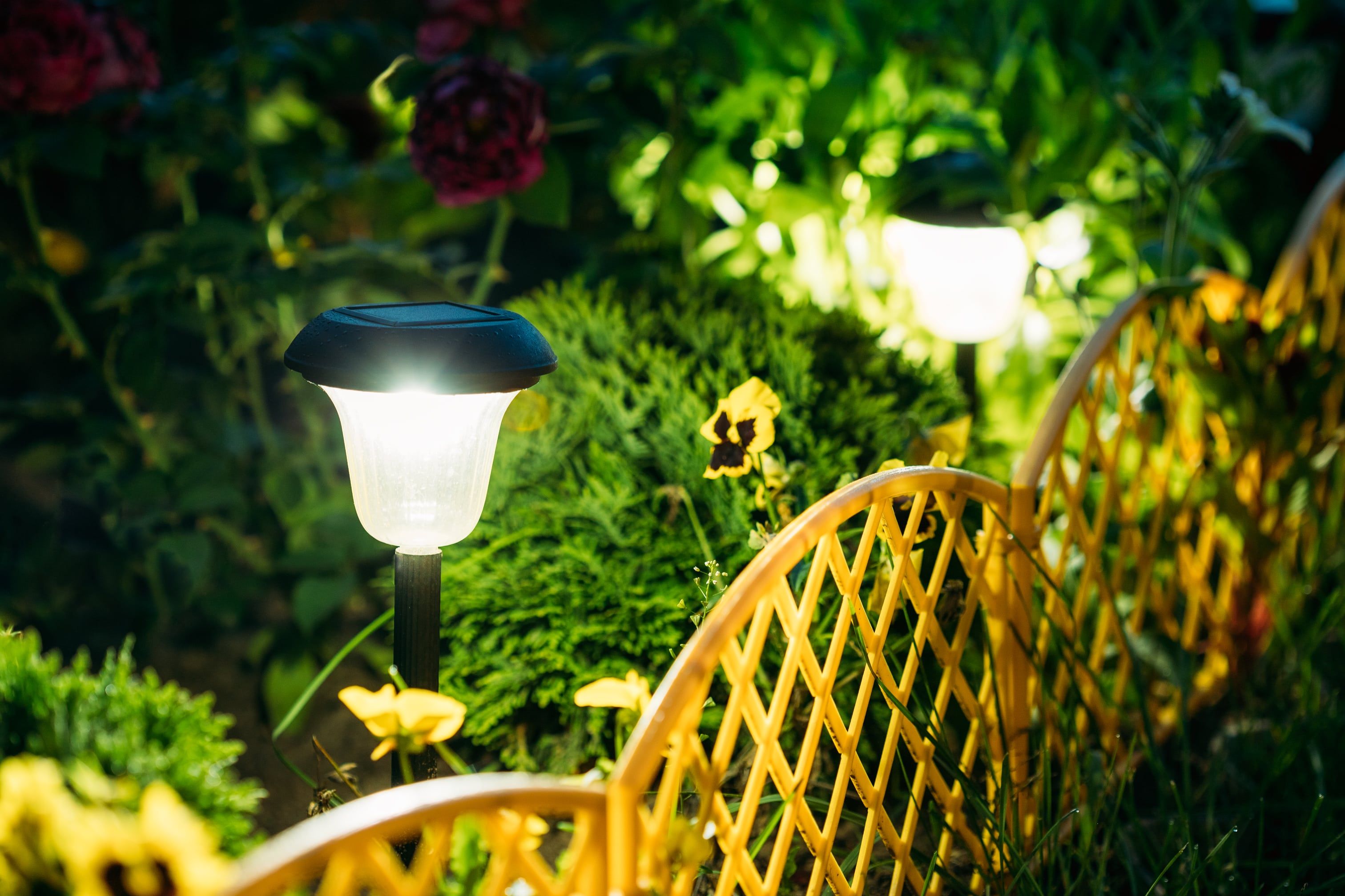 small-solar-garden-light-lantern-in-flower-bed-PDH7YPB-min