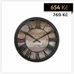 NÁSTĚNNÉ HODINY VINTAGE Ø 39 CM