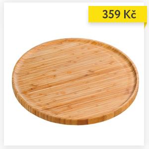 Servírovací deska, bambusová, Ø 32 cm