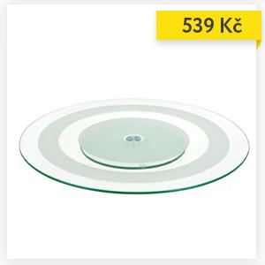 Servírovací tác, skleněný,  Ø 45 cm