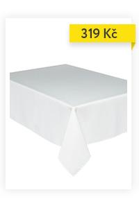 Ubrus odolný vůči skvrnám ESSENTIEL, 140 x 200 cm, bílá barva