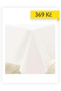 Bílý ubrus ESSENTIEL, 140 x 250