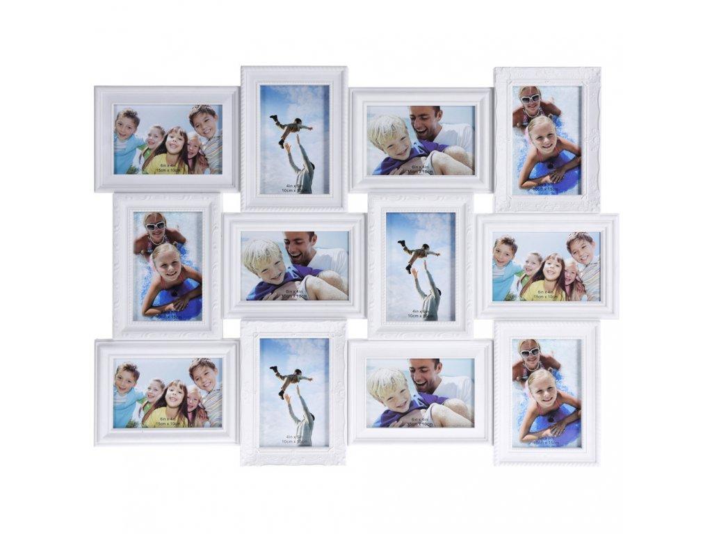 Obdélníkový rámeček, 12 fotek