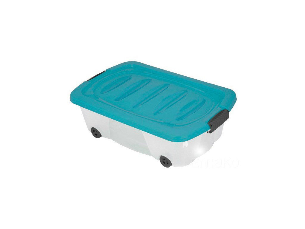 Kontejner  pro skladování, box na kolečkách - 24 l