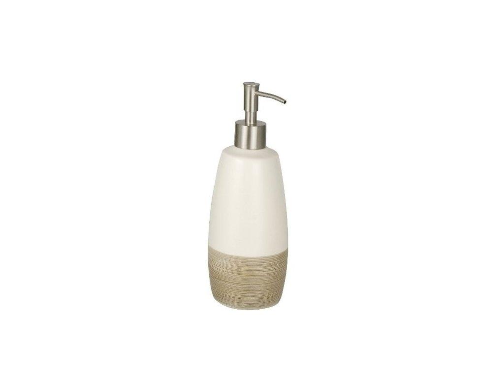Dávkovač mýdla, keramický dávkovač mýdla NATURE, 500 ml, 22x9x8 cm, WENKO