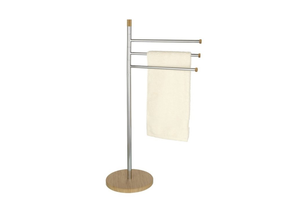 Koupelnový věšák na ručníky BAMBOO, 3 ramenný, WENKO