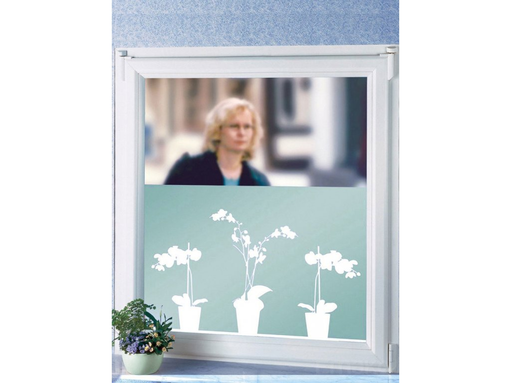 Okenní fólie MOTIV samolepicí, 300 cm - vzor Orchidej