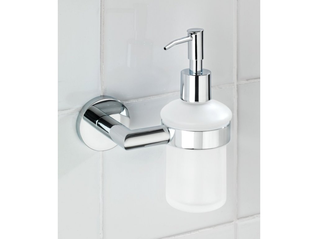 Držák  na tekuté mýdlo REVELLO, Power-Loc + dávkovač, WENKO