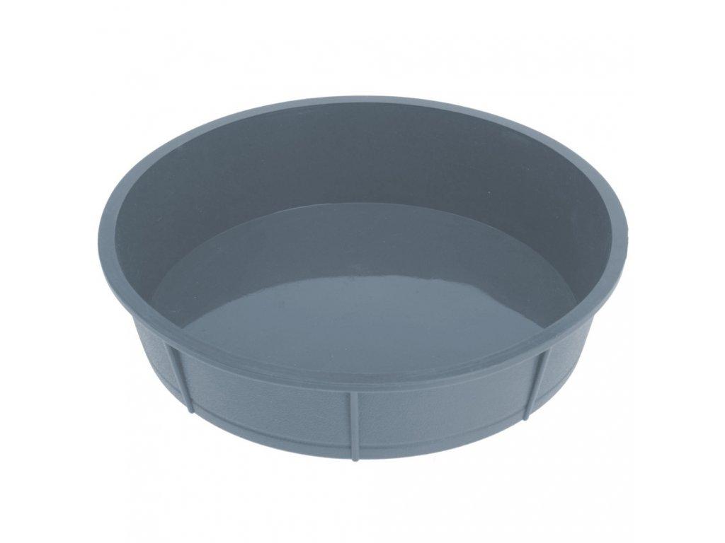 Silikonová pečící forma - 27 cm, šedá barva