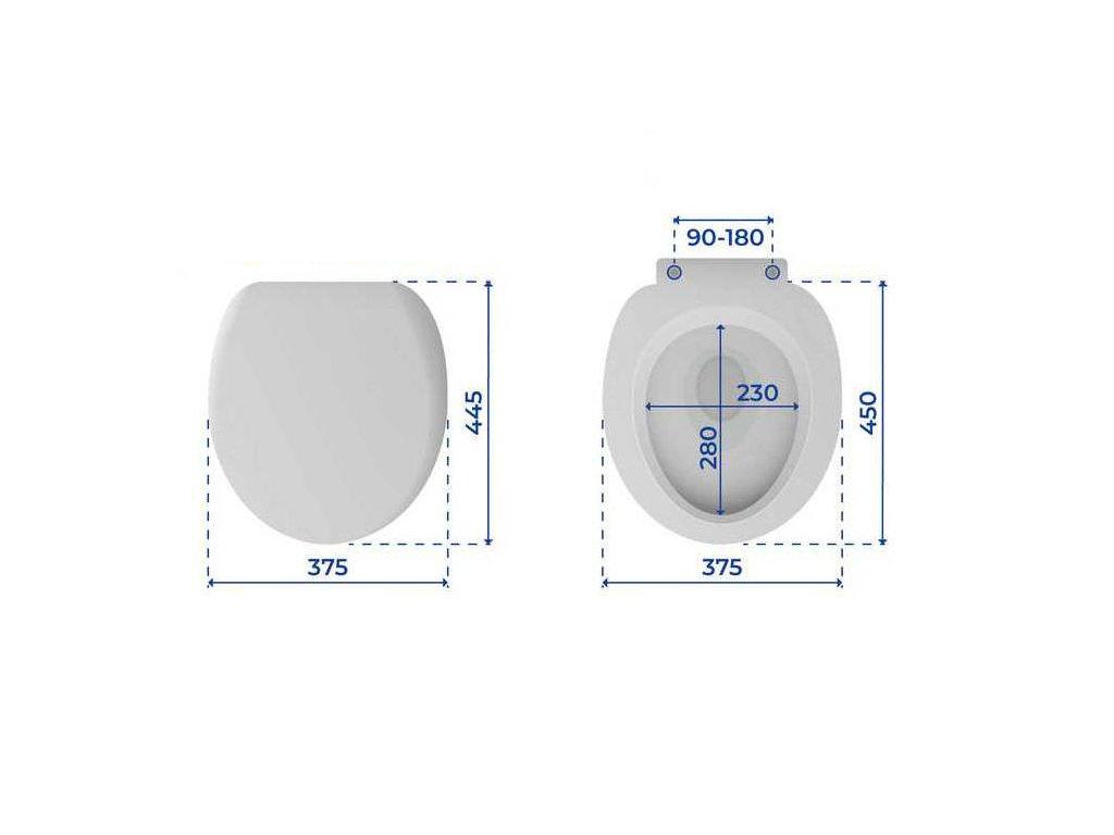 Toaletní sedátko, barva antracit, OTTANA GRANIT, duroplast, WENKO