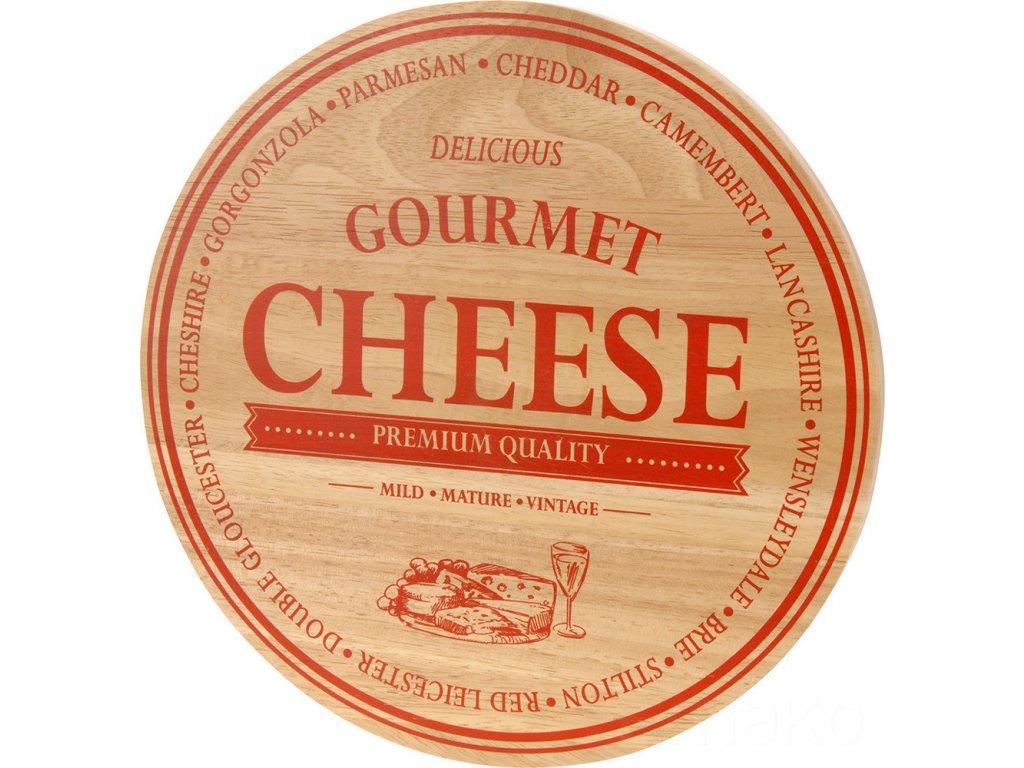 Prkénko na sýr CHEESE - kulatá