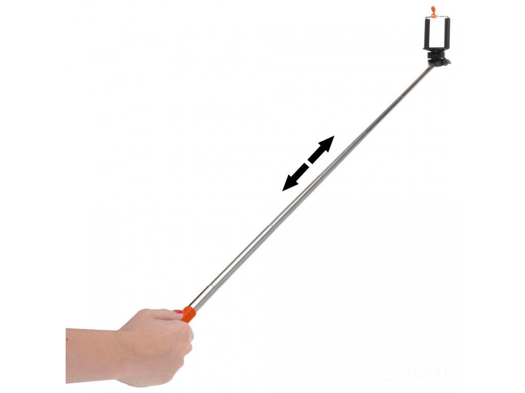 Teleskopická selfie tyč, MONOPOD - držák mobilního telefonu Emako