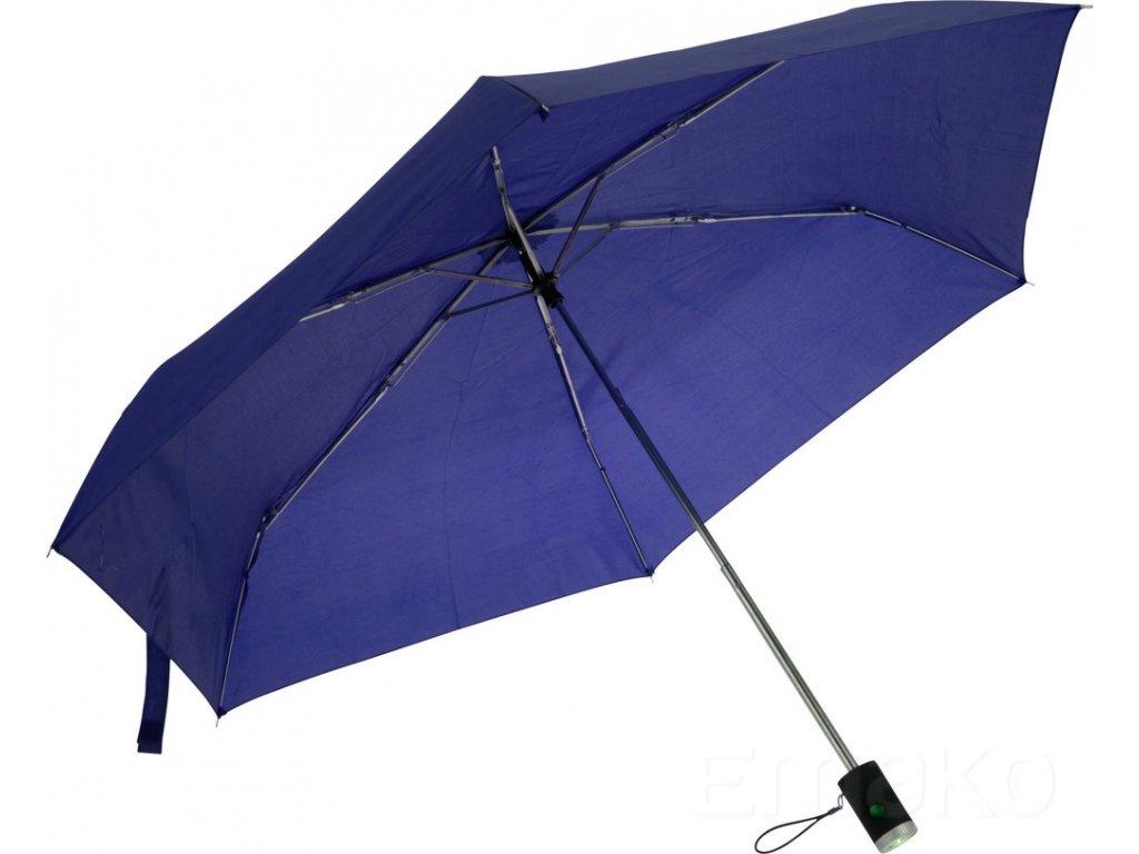 Deštník LED, tmavě modrá barva, O 90 cm
