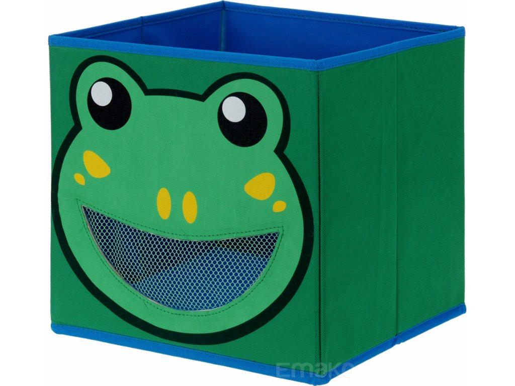 Úložná krabice na hračky ANIMAL DESIGNS, zelená