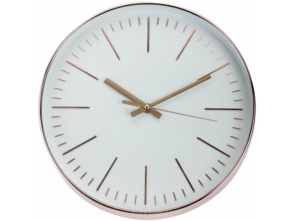 Kulaté nástěnné hodiny,měděné, 30 cm