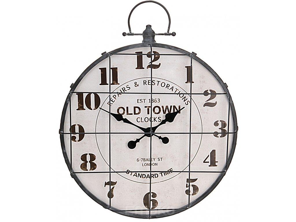 Nástěnné hodiny OLD TOWN - kulaté, O 48 cm