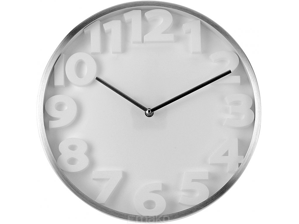 Nástěnné hodiny - kulaté, hliník O 35 cm