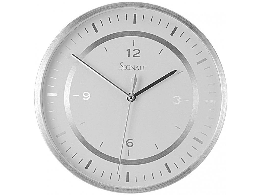 Nástěnné hodiny SEGNALE - kulaté, hliník O 35 cm
