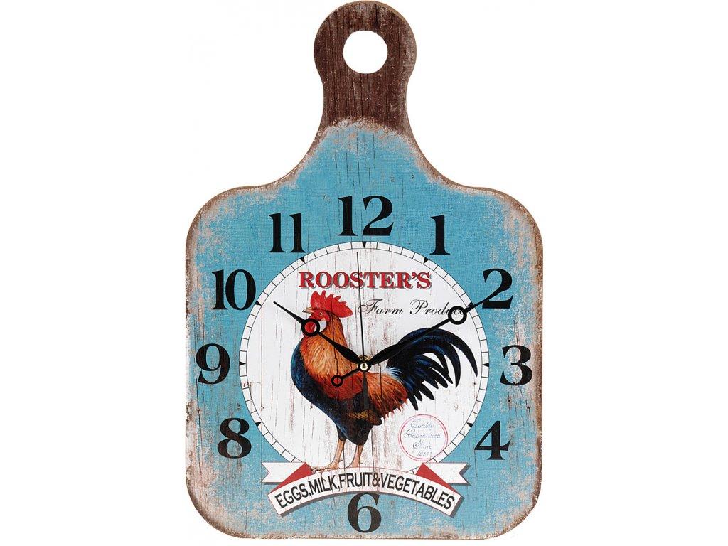 Kuchyňský nástěnné hodiny Krájecí prkénko, dřevěný