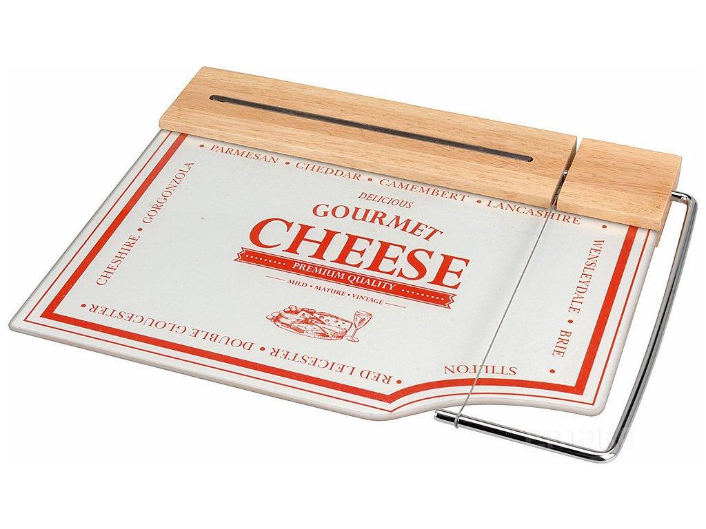 Prkénko na sýry a občerstvení + nůž, 2 v 1