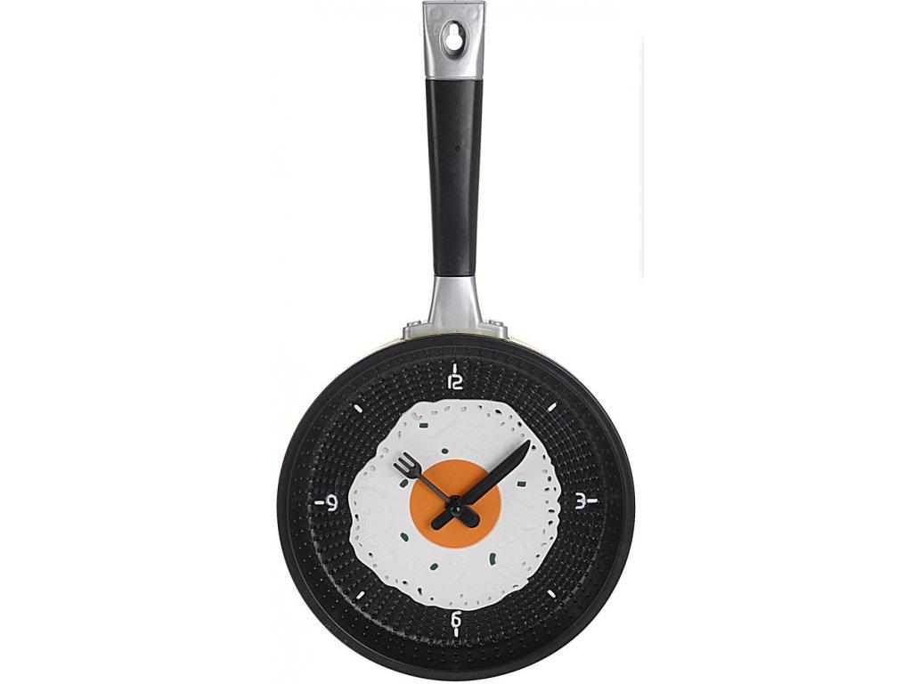 Nástěnné hodiny Pánev - O 18 cm