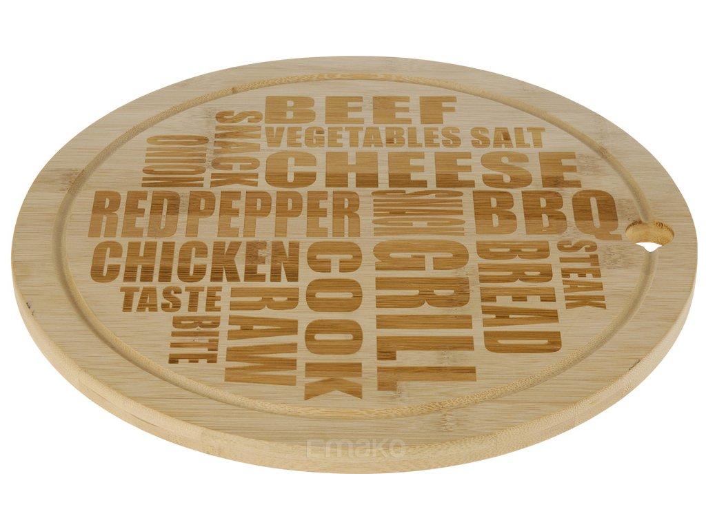 Bambusová deska na sýry a lehké občerstvení