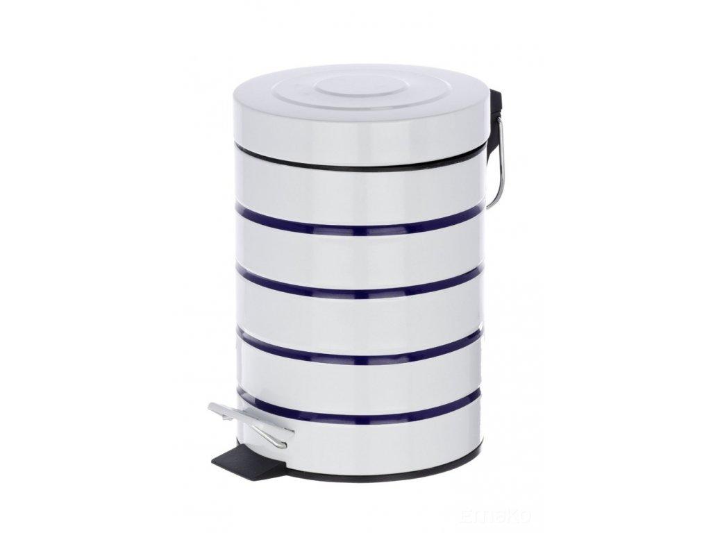 Koupelnový koš MARINE WHITE, odpadkový koš, 3 l, WENKO
