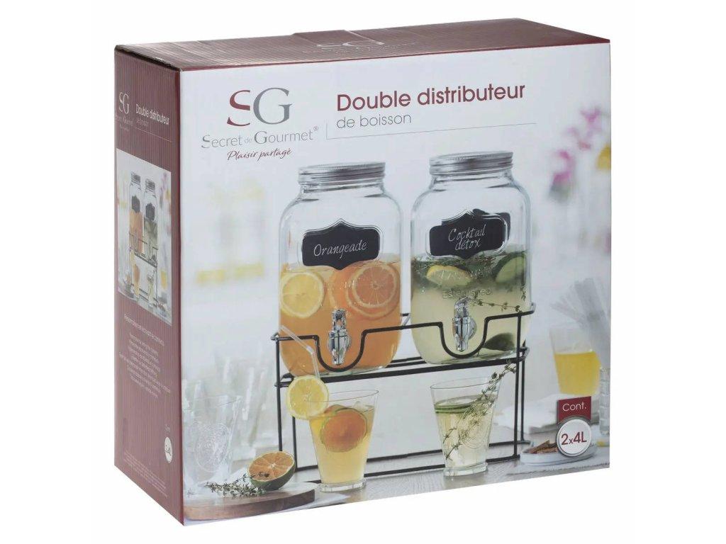 Dvojitý dávkovač nápojů na držáku, 4 l x 2 kusy v balení