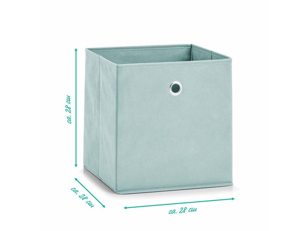 Krabice textilií pro ukládání předmětů
