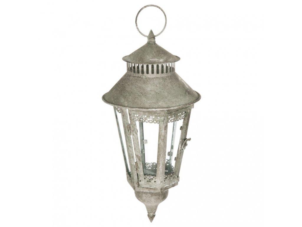 Zahradní lucerna, závěsná lucerna, stříbrná barva