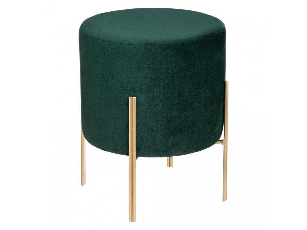 Pouf O 40 cm, barva zelená