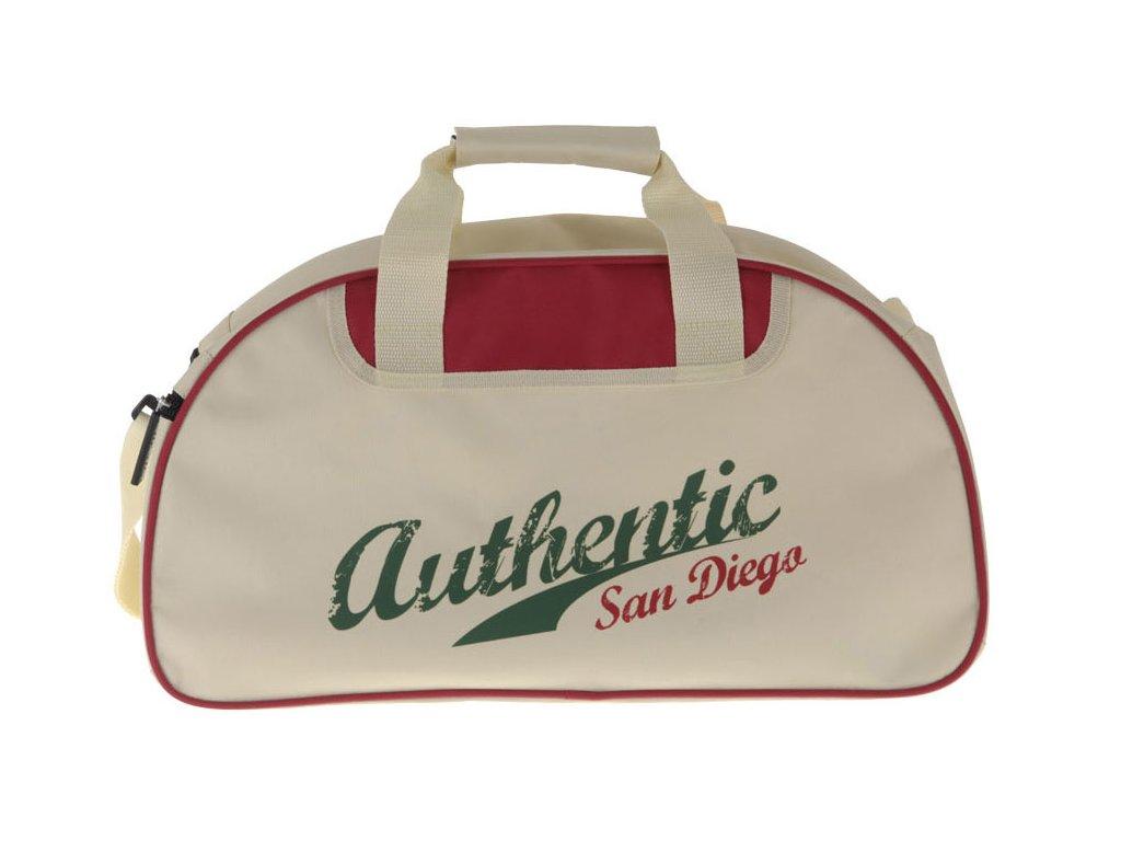 Cestovní taška,  turistická, sportovná San Diego, béžová a zelená barva