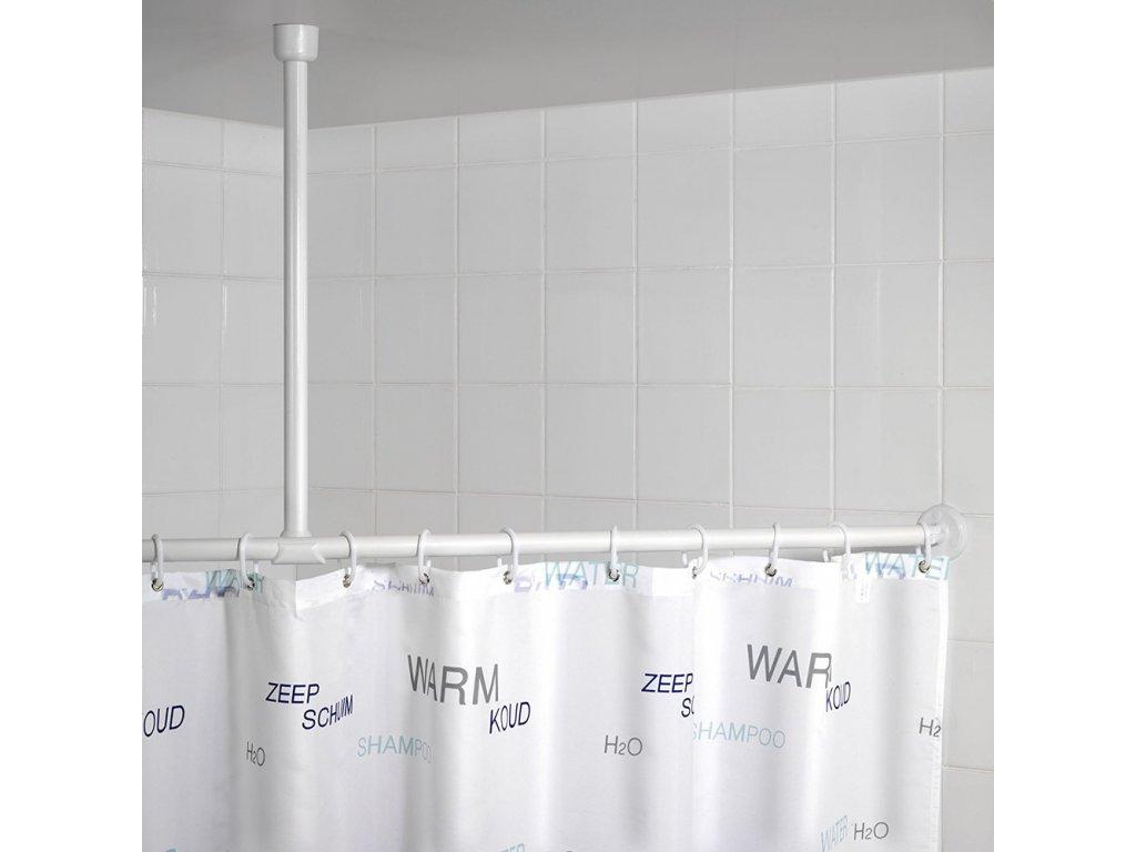 Bílý hliníkový držák na sprchový závěs, 2,5x57 cm, WENKO