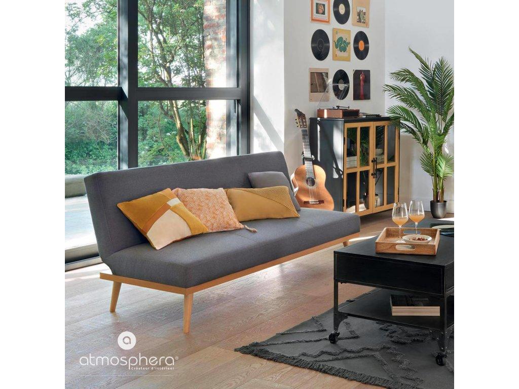Dekorační polštář PATCH, 40 x 40 cm, žlutý